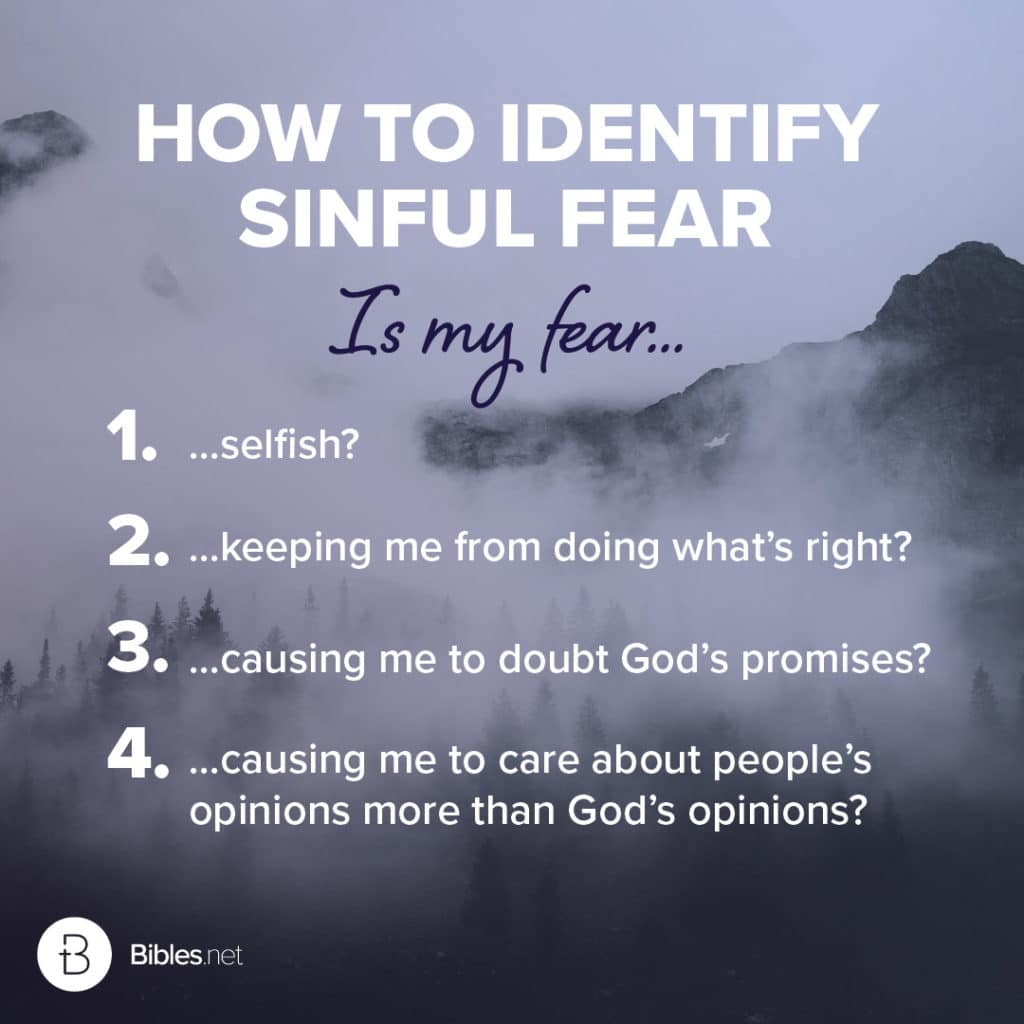 How to identify sinful fear